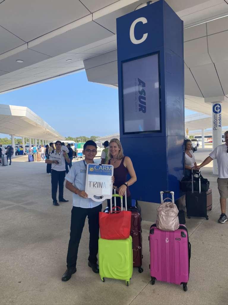 CARM Transfers Greeter at Terminal 4